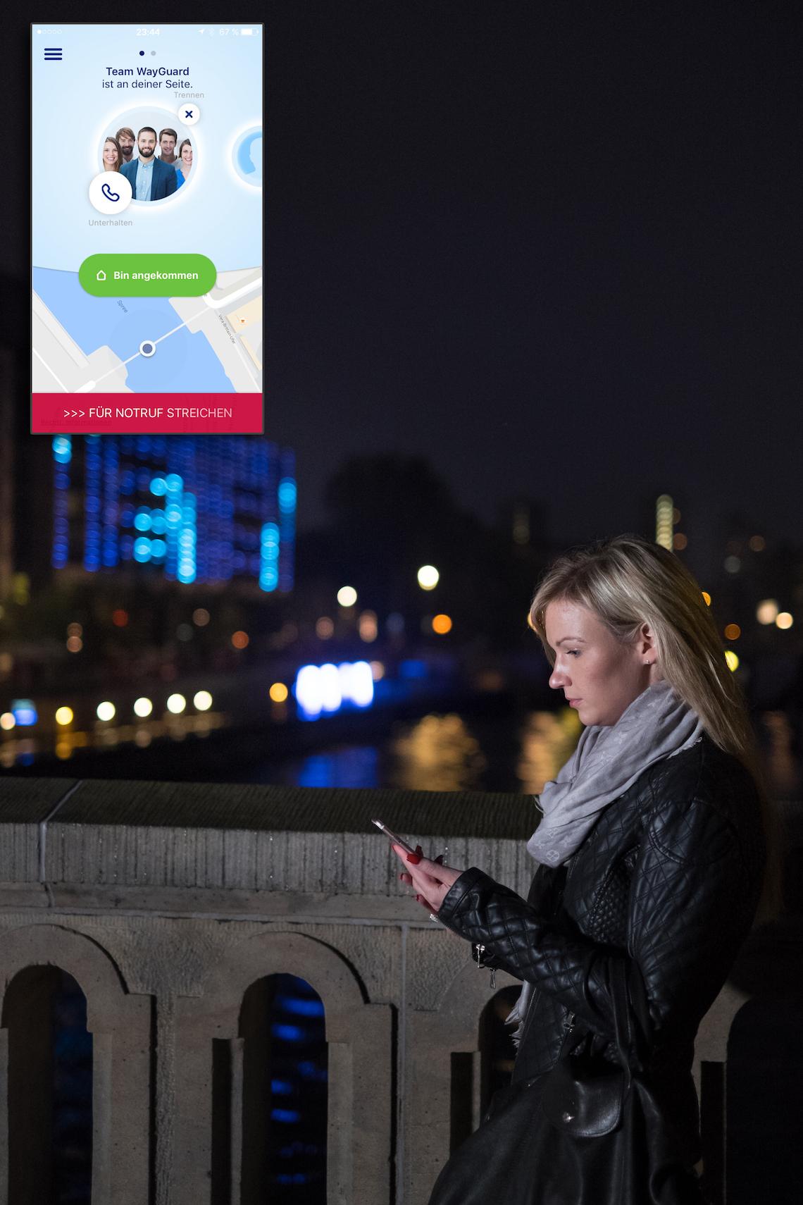 Mädelsschnack l Wayguard App sicher nach Hause